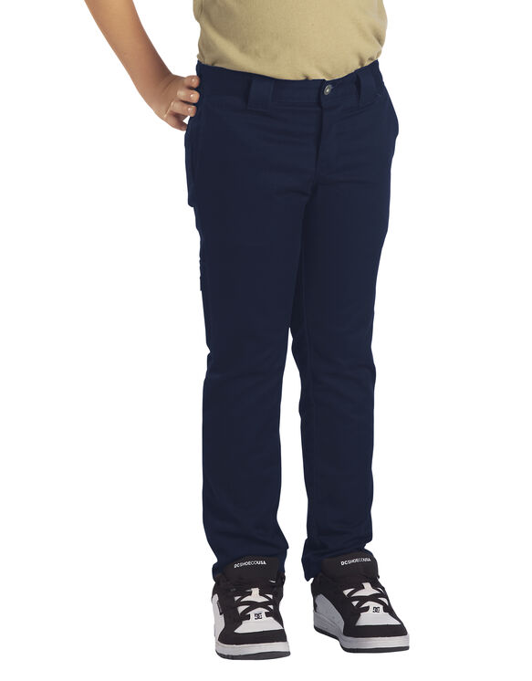 Boys' Flex Skinny Fit Straight Leg Pants, 4-20 - Dark Navy (DN)