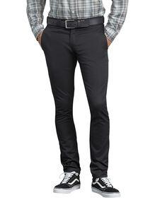 Pantalon de travail en toile croisée à coupe étroite droite - Noir (BK)
