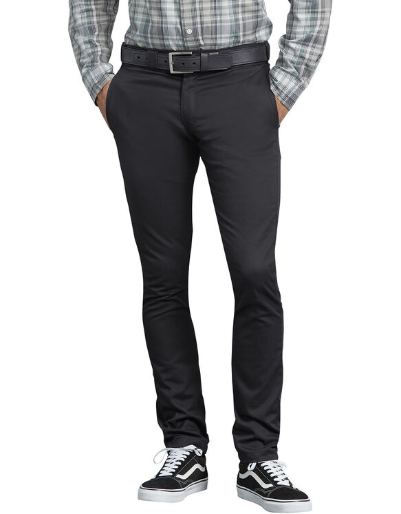 FLEX Skinny Straight Fit Work Pants - Black (BK)