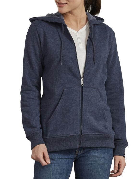 Women's Zip Front Hooded Jacket - Ink Navy Heather (IKH)