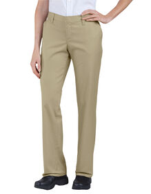 Women's Premium Relaxed Straight Flat Front Pants - Desert Khaki (DS)