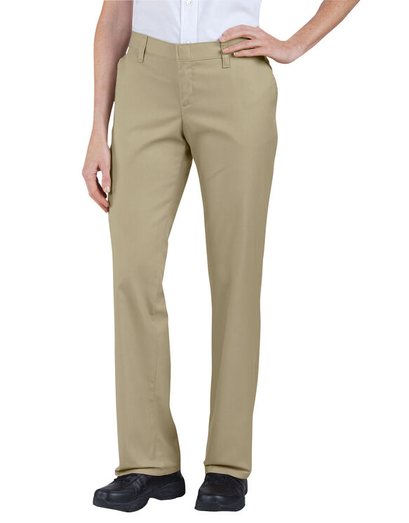 Women's Premium Relaxed Straight Flat Front Pant - Desert Khaki (DS)