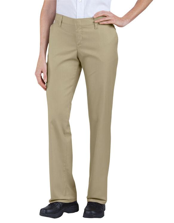 Pantalon à devant plat de qualité supérieure pour femmes - Sable du désert (DS)
