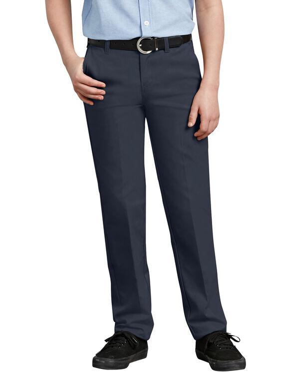 Pantalon kaki Ultimate à jambe droite de coupe ajustée à ceinture FlexWaist® pour garçons, 8-20 - marine foncé (DN)