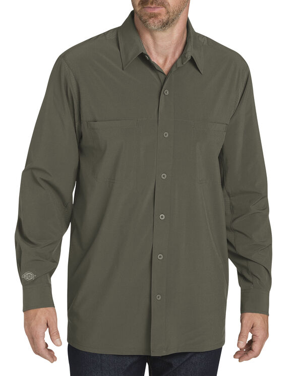 Long Sleeve Cooling Shirt with Xylitol - Moss Green (MS)