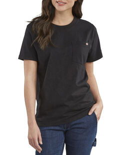 Women's Short Sleeve Heavyweight T-Shirt - Black (BK)