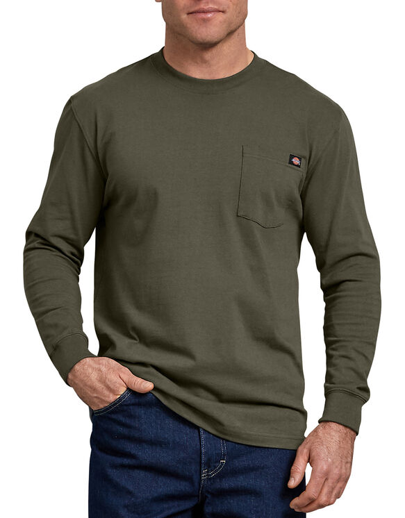 Long Sleeve Heavyweight Crew Neck Tee - Moss Green (MS)