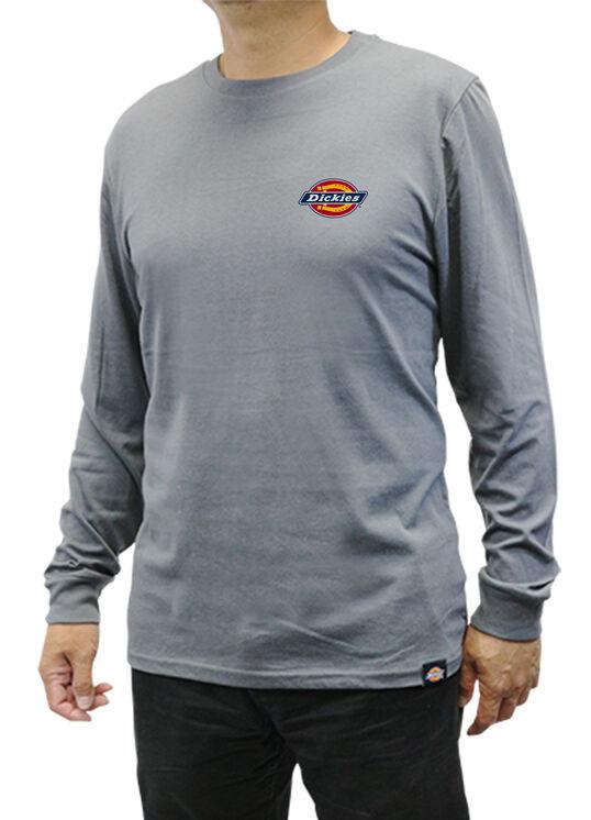 Men's Graphic Long Sleeve Dickies Shirt - Charcoal Gray (CH)