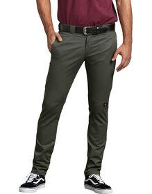 FLEX Skinny Straight Fit Double Knee Work Pants - Olive Green (OG)