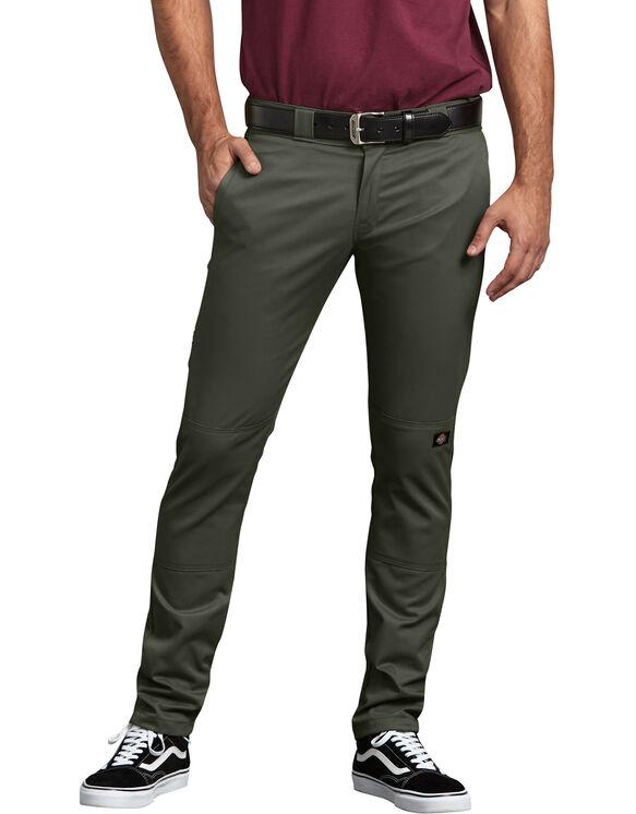Pantalon de travail à genoux doublés coupe étroite droite - Olive Green (OG)