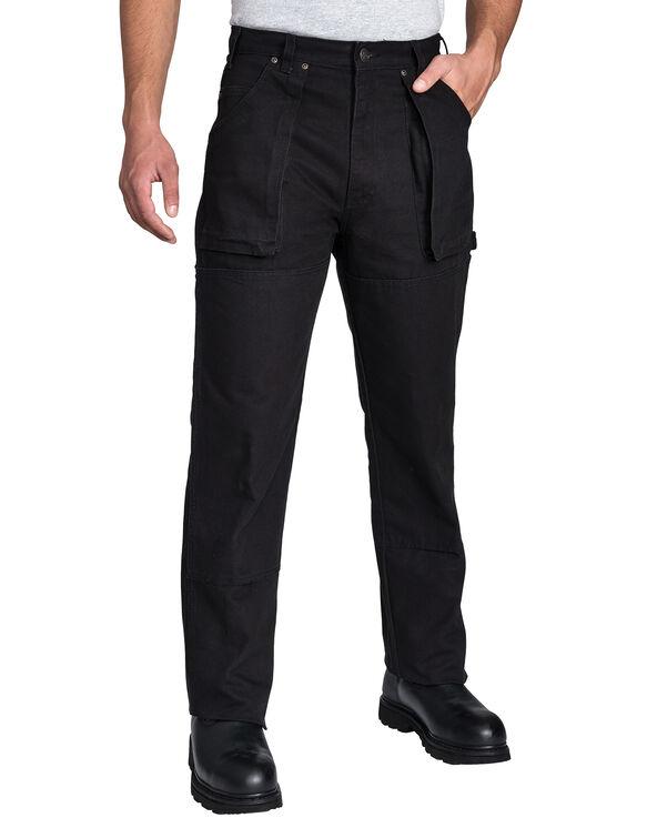 Pantalon de bûcheron en coutil - Noir rincé (RBK)
