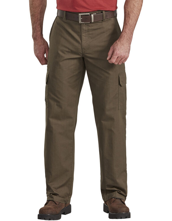 Relaxed Fit Straight Leg Ripstop Cargo Pant - RINSED MOSS GREEN (RMS)