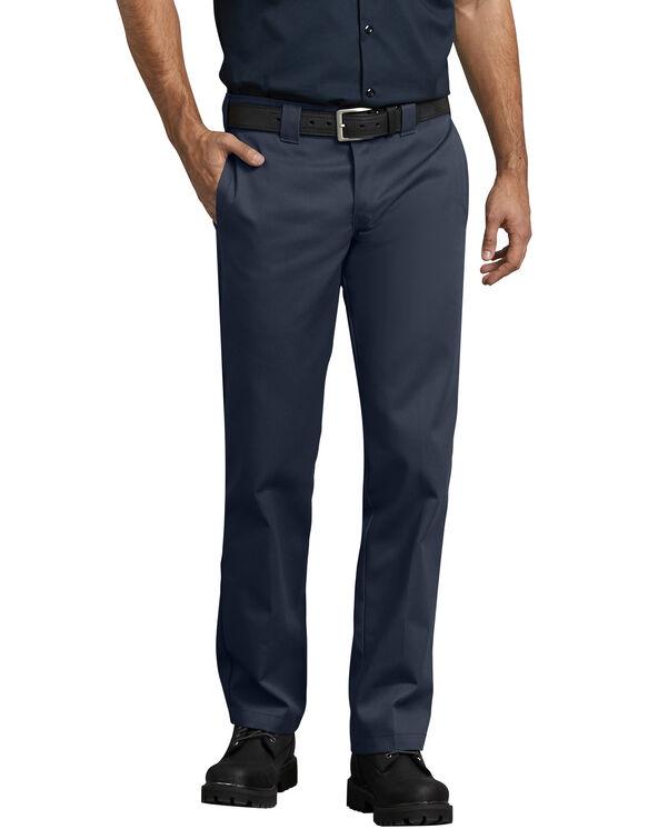 Slim Fit Straight Leg Work Pants - Dark Navy (DN)