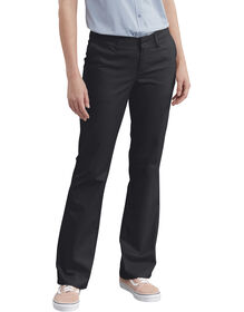 Women's Slim Fit Bootcut Stretch Twill Pants - Black (BK)