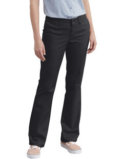 Women's Slim Fit Bootcut Stretch Twill Pants - Black (BK)