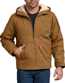 Duck Sherpa Lined Hooded Jacket - Brown Duck (RBD)