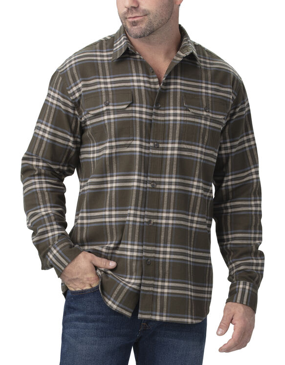 FLEX Long Sleeve Flannel Shirt - Tactical Green Slate Plaid (PTD)