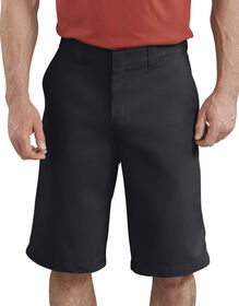 "13"" FLEX Temp-iQ® Active Waist Flat Front Shorts - Black (BK)"