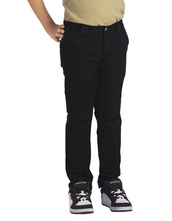 Boys' Flex Skinny Fit Straight Leg Pants, 4-20 - Black (BK)