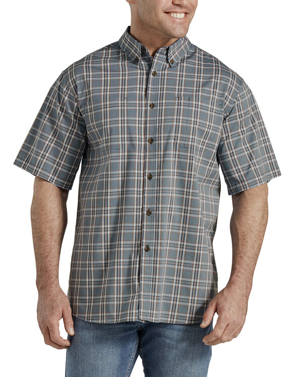 Icon Relaxed Fit Yarn Dyed Camp Shirt - DUSTY BLUE/NAVY PLAID (PDN)