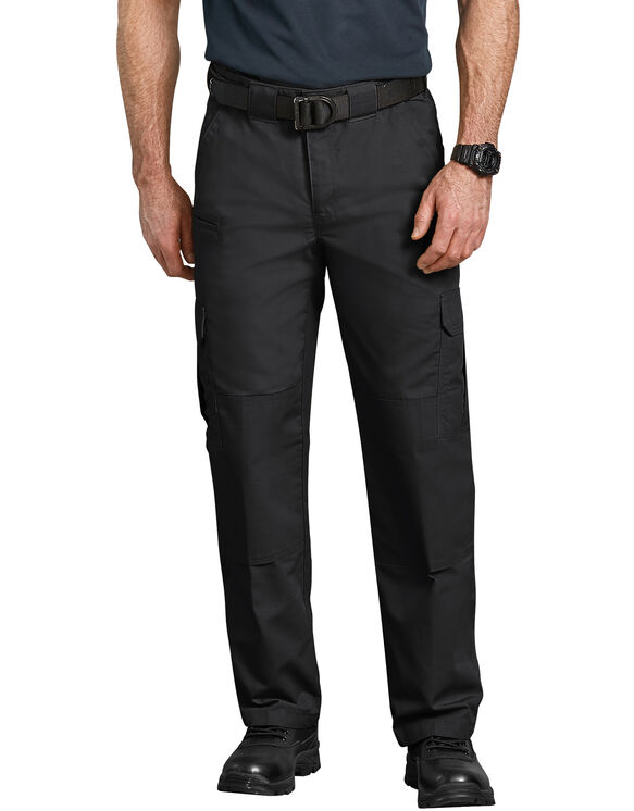 Tactical Relaxed Fit Straight Leg Lightweight Ripstop Cargo Pants - Black (BK)