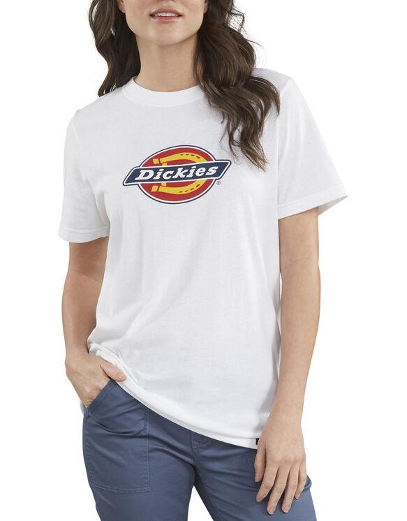 Women's Logo Graphic Cotton T-Shirt - White (WH)