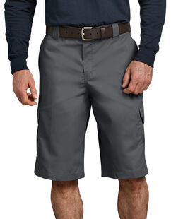 """FLEX 13"""" Relaxed Fit Cargo Shorts - Charcoal Gray (CH)"""