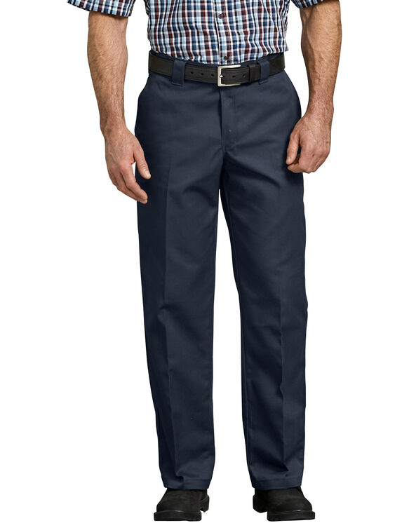 Flex Relaxed Fit Straight Leg Twill Work Pants - Dark Navy (DN)