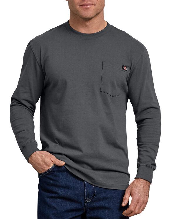 T-shirt à manches longues avec poche - Charcoal Gray (CH)