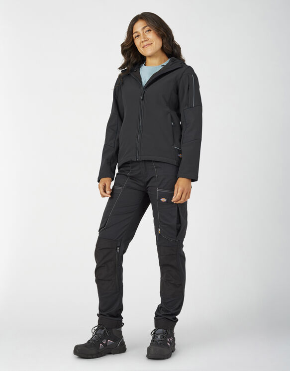Manteau de travail performant à coquille souple pour femmes - Black (BK)