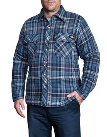 Quilted Snap Front Plaid Shirt - D18005 K PLAID 001 ASH BLUE/GR (CF4)