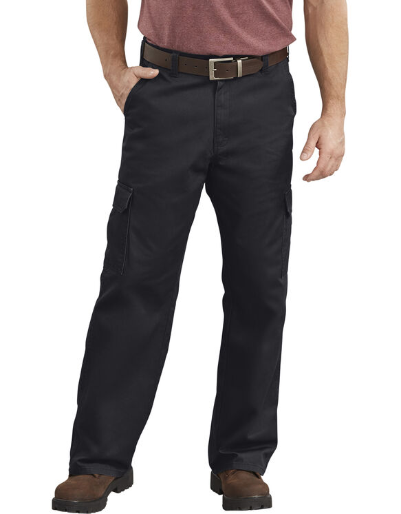 Loose Fit Straight Leg Cargo Pants - Black (RBK)