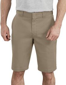 """11"""" Active Waist Flat Front Shorts - Desert Khaki (DS)"""