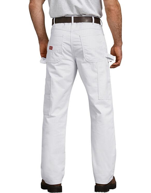 Pantalon utilitaire décontracté avec genou doublé - White (WH)
