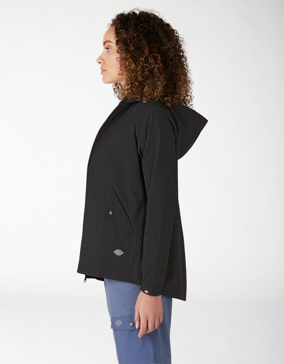 Manteau à capuchon performant pour femmes - Black (BKX)