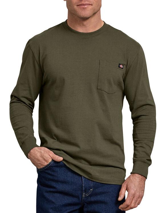 Long Sleeve Heavyweight Crew Neck Tee - Military Green (ML)