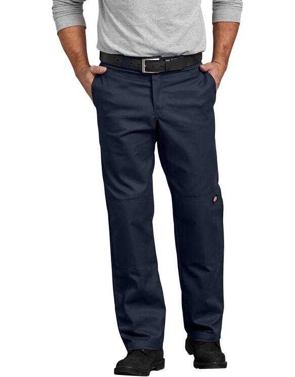 Flex Regular Straight Fit Double Knee Work Pant - Dark Navy (DN)