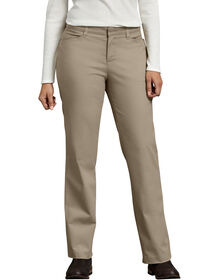 Women's Curvy Fit Straight Leg Stretch Twill Pants - Desert Khaki (DS)