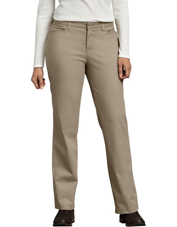 Women's Curvy Fit Straight Leg Stretch Twill Pants - Desert Khaki (DS)