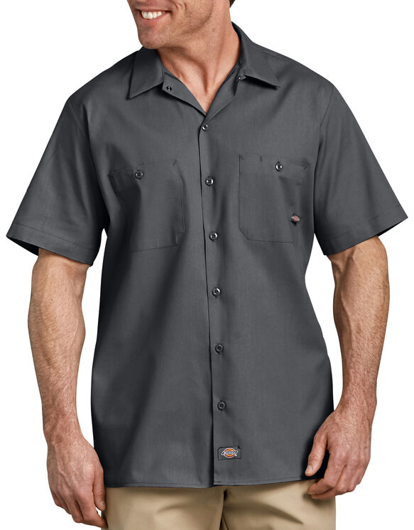 Short Sleeve Industrial Work Shirt - Charcoal Gray (CH)