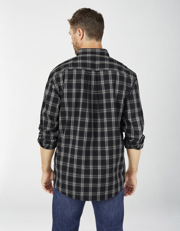 FLEX Relaxed Fit Long Sleeve Plaid Shirt - Black Plaid (BPK)
