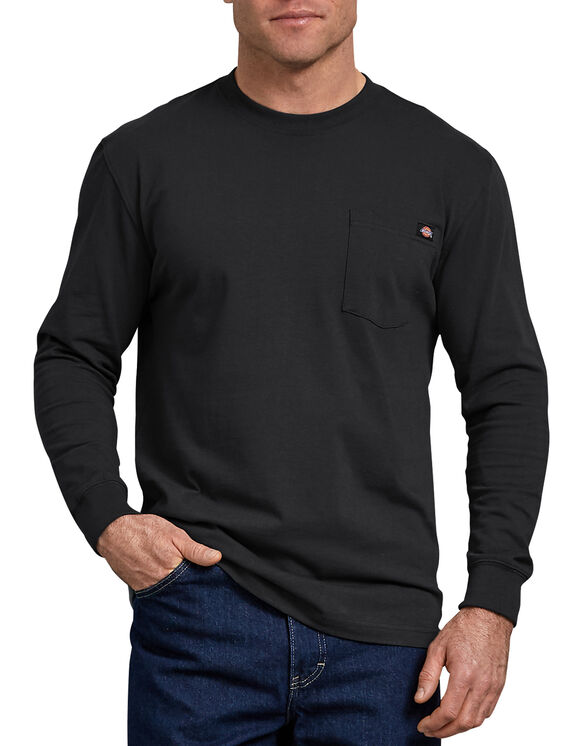 c04d5bbcc4b Long Sleeve Heavyweight Crew Neck Tee - Black ...