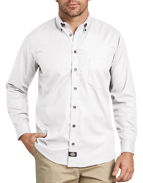 Industrial Flex Comfort Long Sleeve Shirt - White (WH)