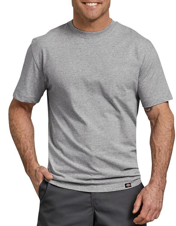 Short Sleeve Heavyweight Crew Neck T-Shirt - Heather Gray (HG)