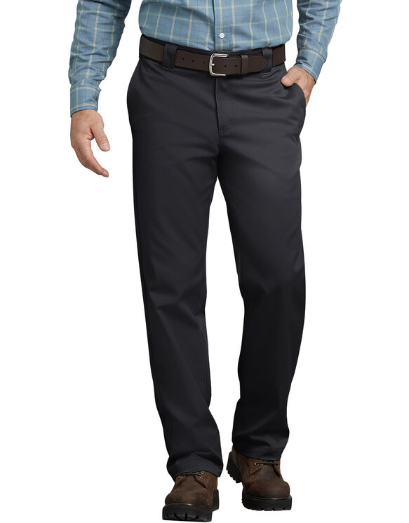 Pantalon de travail FLEX, coupe standard, jambe droite, en tissu sergé Tough Max™ - Noir (BK)