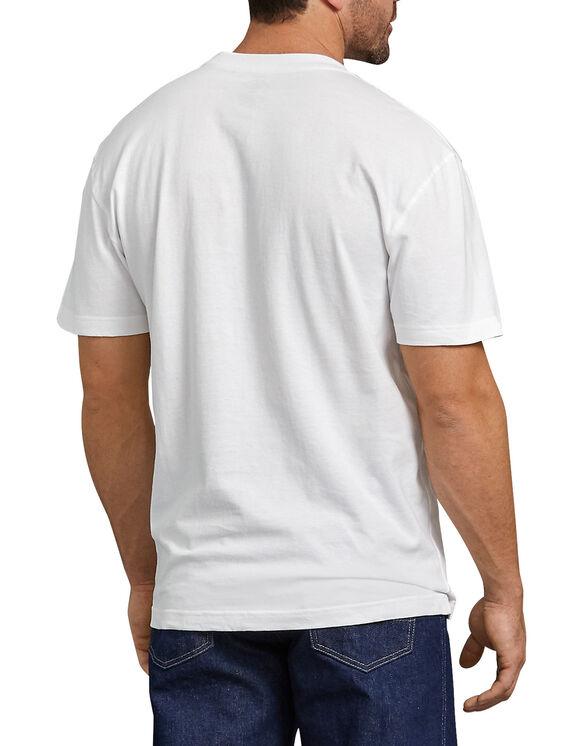 Short Sleeve Heavyweight Henley Shirt - White (WH)