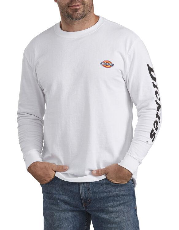 T-shirt à manches longues épais avec imprimé - White (WH)