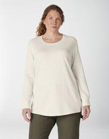 Women's Plus Long Sleeve Crew Neck Thermal Shirt - Oatmeal Heather (O2H)