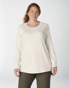 Chandail isotherme taille plus à manches longues et à encolure ras du cou pour femmes - Oatmeal Heather (O2H)