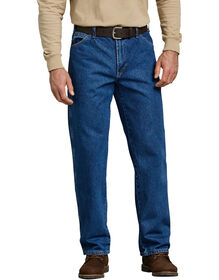 Relaxed Straight Fit 5-Pocket Denim Jean - STONEWASHED INDIGO BLUE (SNB)